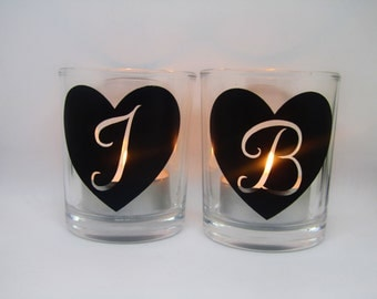 Personalised Heart & Letter Tea-light Candle Holder