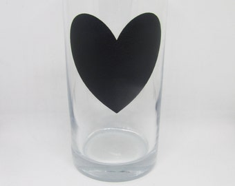 Chalkboard Heart Hi Ball Glass