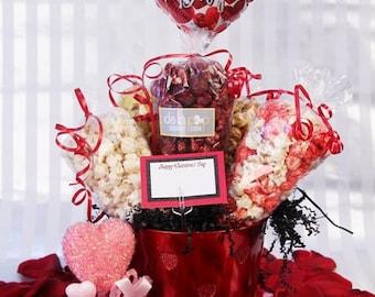 Be My Valentine Bouquet Popcorn Gift