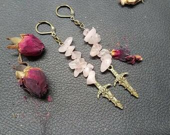 Rose Quartz Atheme Earrings