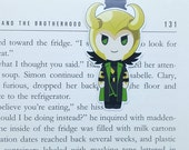 Loki - Magnetic bookmark || book lover gifts, bookmark, bookish, bookmarks, comics, magnetic bookmarks