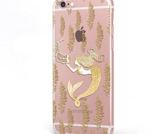 iPhone - Samsung Galaxy - TPU Soft Rubber Cell Phone Case - Mermaid - High quality Soft Silicon-Designed and Printed in USA