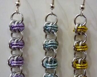 Multi Colour Barrel Weave Earrings