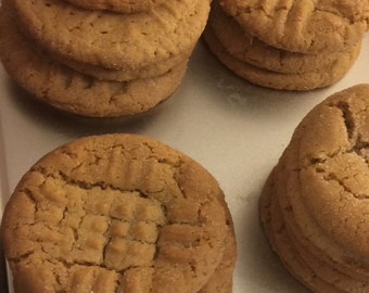 Old Fashion Peanut Butter Cookies, 12 Peanutbutter Cookies