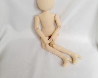 "Blank doll body with shoes 17"" (44sm) Doll Body Cloth doll"