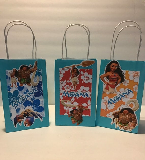 Disney Moana Birthday Treat Bags