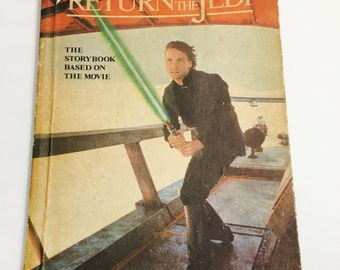 Star Wars book.  Return of the Jedi book. George Lucas.  Young Jedi Knights.  James Kahn.  Vintage hardback book.