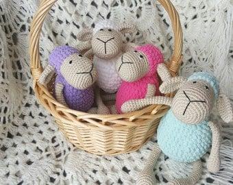 Crochet Handmade Stuffed Sheep Toy - Crochet Animal - Crochet toy Sheep - Amigurumi Animal