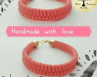 Imitation leather bracelet - Woven bracelet - Woman bracelet - Handmade - Bracelet