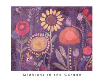 Midnight In The Garden - Digital Print