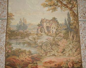 Vintage French Beautiful Verdure Tapestry 057