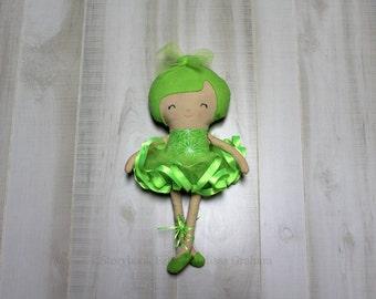 Ballerina Doll, Cloth Doll, Rag Doll, Soft Doll, Baby Doll, Handmade Doll, Fabric Doll, Doll, Girl Gift, Handmade