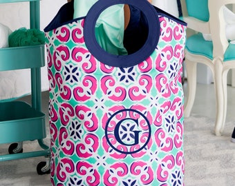 Monogrammed Mia Tile Laundry Tote...Laundry Bag...Carryall..Preppy