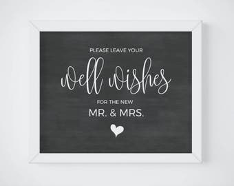 Wedding Well Wishes Sign, Marriage Advice Sign, Advice Card, Wishing Well Sign, Rustic Chalkboard Reception Sign, Memory Box Sign, DIGITAL