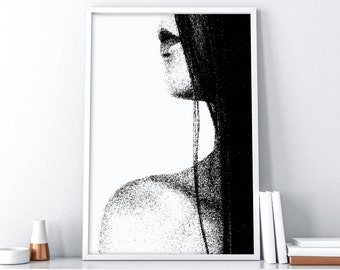 Printable Art| Fashion Poster Print| Woman Face Print| Fashion Wall Art| Woman Wall Poster| Tumblr Room Decor| Wall Hanging DIY