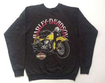 Vintage 80s Harley Davidson crew neck pullover sweatshirt