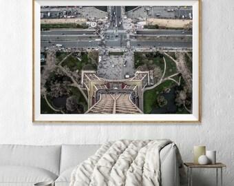 Paris Eiffel Tower Aerial Photography, Abstract Large Wall Art Decor, Colour Fine Art Photography, Art Prints, France Je t'aime Paris Photo
