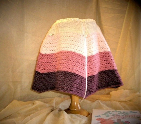 Baby Girl Cosy Warm Poncho in soft cream & tiered pink. Ribbon Tie neck with Rose bud detail (Age 0-9 months)