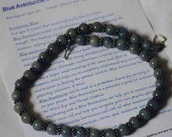 Blue Adventurine Crystal Necklace