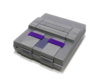 3D Printed Super Nintendo (SNES) Case for Raspberry Pi B+, Pi 2, and Pi 3