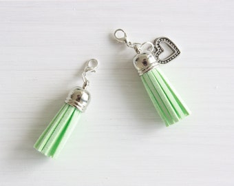 Mint and silver planner tassel