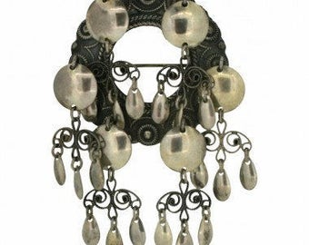 1930s Norwegian Silver Vintage Bridal Brooch