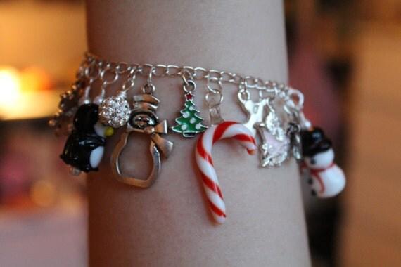 Christmas Themed Charm Bracelet / Bangles