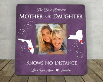 Gift for Mother, Christmas Gift for Mom, Mother Daughter Gift, Personalized Picture Frame, Long Distance Mother Daughter Gift, Long Distance