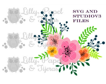 Floral design, Flowers, Silhouette Cameo,Silhouette Studio Files