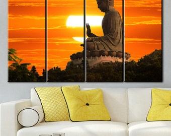 Buddha canvas, Buddha photo, Еoile Bouddha, Extra Large Wall Art, Canvas print, Canvas painting, Extra Large Wall Art, Paintings on canvas