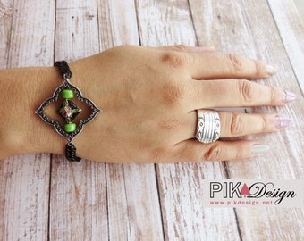 Bracelet-black-green-silver-small-thin-bohemian-pearls-boho-chic-gypsy-young-trend-fashion-jewelry-string-novelty-spring-BR071