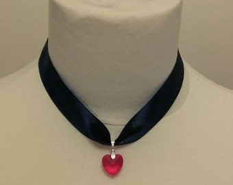 Gothic Vampire Red Heart Pendant Chokers