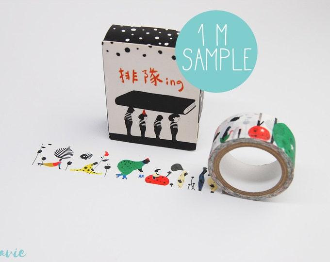 1 m sample Washi tape illustration tool