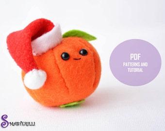 Christmas mandarin Toy sewing PDF pattern and tutorial