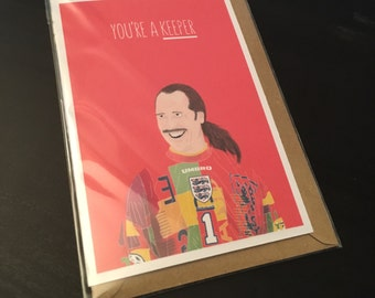 David Seaman Greeting Card