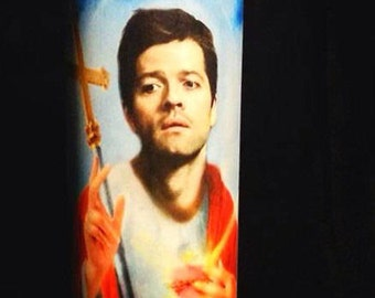 Saint Castiel prayer candle