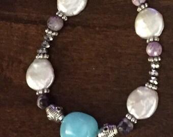 Peruvian Blue Opal Bracelet