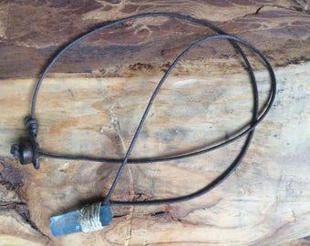 Simple Blue Quartz Necklace