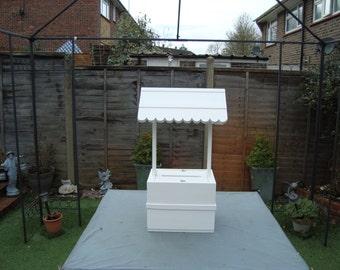 Wedding wishing well lockable 80 cm plus high free postage in the uk