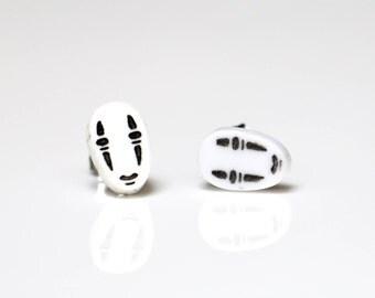 No Face spirited away earrings, kaonashi, ghibli earrings, studio ghibli earrings, kawaii jewellery, spirited away jewelry, cute earrings