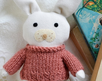 Daisy, soft toy, stuffed toy animal, soft toy, Easter bunny, cloth doll, bunny rabbit, gift for toddler, rag doll, bunny doll