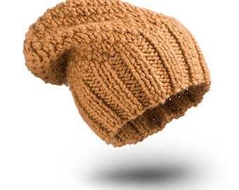 Thick Hat Arabic Camel Wool hat for women beanie hat  chunky hand knit hat