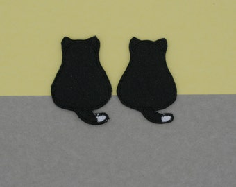 Mini Black and White Cat Patch (2 colors option)