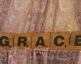 """Scrabble Pieces """"GRACE"""" 5.5'""""X5.5"""""""