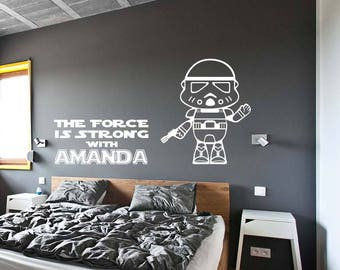 The Force Is Strong With This One Star Wars Wall Decal Kids Room Decor Sticker For Home Interior Nursery Decal