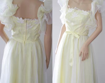 Whimsical 70s/80s Boho Bride/Bridesmaid/Ball/Engagement Dress