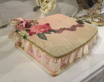 Romantic Shabby Chic Box, Shabby Chic Decor, Keepsake Box, Gift Boxes with Lids, Favor Boxes, Jewelry Box, Jewelry Storage, Gifts for Her