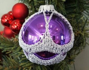 Unique Christmas Ornaments purple/gold design 31x unique christmas ornaments