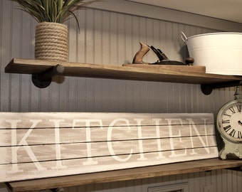 Rustic Kitchen Sign - Kitchen Sign - Rustic Kitchen Decor - Kitchen Wall Decor - Wooden Sign - Rustic Wood Sign - Farmhouse Decor