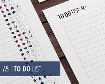 Printable To Do List / GTD effective planner Insert / A5 Filofax and Kikki Inserts / Clear to do list / Zen / Black- and White / Download